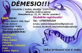 Užsuk į šokių studiją EUFORIJA Kaune Šilainiuose