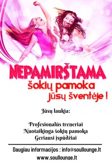 Nepamirštama šokių pamoka Jūsų šventės metu Vilniuje