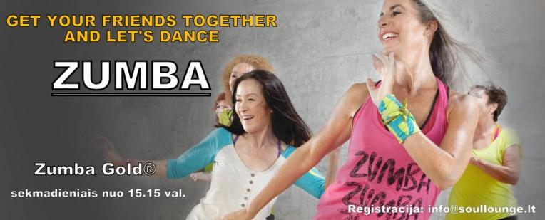 Zumba Gold - smagus šokių vakarėlis visiems jauniems