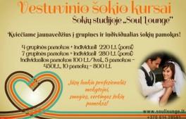 "Vestuvinio šokio kursai studijoje ""Soul Lounge"""