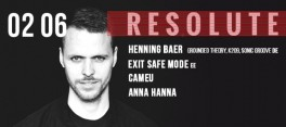 RESOLUTE: Henning Baer (Grounded Theory, K209, Sonic Groove, DE)
