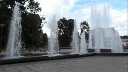 Muzikinis fontanas gydyklų parke Druskininkuose