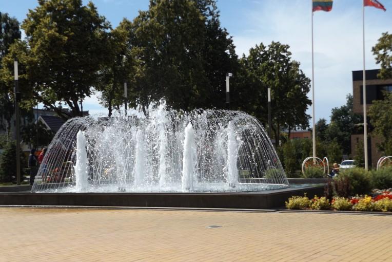 Muzikos ir šviesų fontanas Palangoje