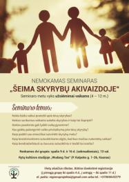 Nemokamas seminaras - Šeima skyrybų akivaizdoje