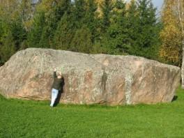 """""""Barstyčių akmuo"""" didžiausias Lietuvoje"""