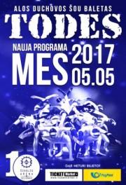 """Šou baletas TODES su nauja programa """"MES"""" Šiauliuose"""