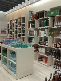 Firminė MV gėrimų parduotuvė Šiauliuose (PC Akropolis)
